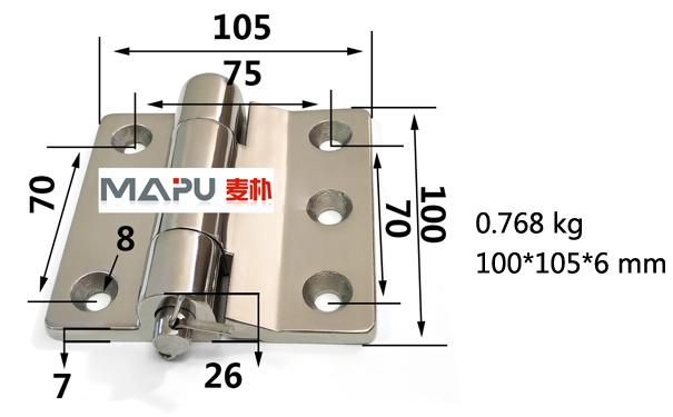 有关焊接重型不锈钢铰链的图片
